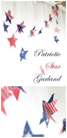 DIY Patriotic Paper Garland   Easy Sewing Craft   4th of July decorations   Red White and Blue Ideas   Fourth of July Party Planning and Decor   Cricut Explore Crafts   LaurasCraftyLife.com for TodaysCreativeLife.com Fourth Of July Food, 4th Of July Party, July 4th, 4th Of July Decorations, Patriotic Party, Happy Independence Day, July Crafts, Memorial Day, Veterans Day