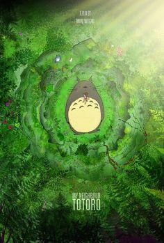 My Neighbour Totoro by reubendangoor; one of my *all-time* favorite films. Hayao Miyazaki is a genius.