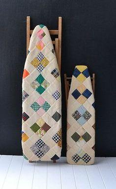 Jolie idée deco : planche à repasser patchwork  morganetenoux.tumblr.com