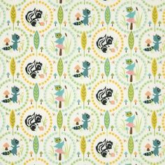 Amazon.com: Riley Blake Woodland Tails Owl Cream Fabric Yardage: Arts, Crafts & Sewing