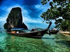 Railay beach, Krabi, Thailand. Railay Beach, Krabi Thailand, Places, Travel, Viajes, Destinations, Traveling, Trips, Lugares