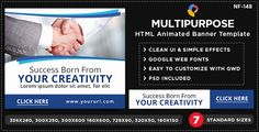 Multi Purpose HTML5 Banners - GWD - 7 Sizes(NF-CC-148) . NF-CC-148_Multipurpose_HTML5_Banners