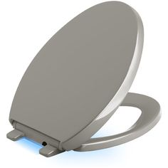 Kohler Reveal Nightlight Quiet-Close with Grip-Tight Elongated-Front Toilet Seat Finish: Cashmere