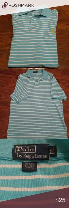 Mark Down  ** Ralph Lauren Polo Men Shirt **NWOT 100% Cotton... Exclusive of decoration.... Beautiful aqua and white color....... Shirts