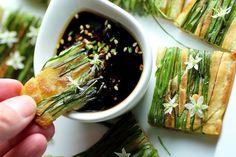 Buchu Jeon - Garlic Chive Blossom Pancake 9 | Korean Recipes