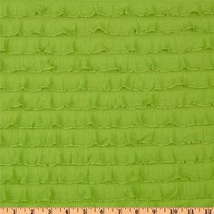 "1"" Lime / Green Cascading Ruffle Fabric  by 1 yard"