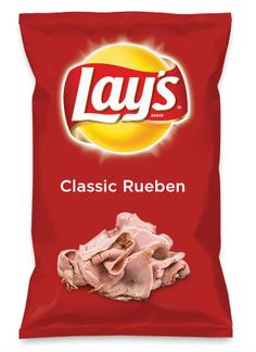 Wouldn't Classic Rueben be yummy as a chip? Lay's Do Us A Flavor is back, and the search is on for the yummiest flavor idea. Create a flavor, choose a chip and you could win $1 million! https://www.dousaflavor.com See Rules.