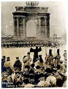 Bloody Sunday was a massacre on Jan. 22 1905 in St. Petersburg, Russia, where unarmed, peaceful demonstrators marching to present a petition to Tsar Nicholas II were gunned down by the Imperial Guard. The events which occurred here have been assessed to be one of the key events which led to the eventual Russian Revolution of 1917.