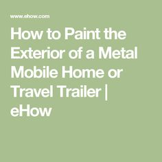 How to mud mobile home walls after you remove the strips How to paint a mobile home exterior