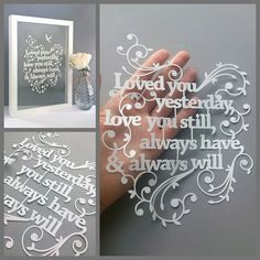 TEMPLATE++'Love+you+still'+Papercutting+by+TommyandTillyDesign,+£20.00