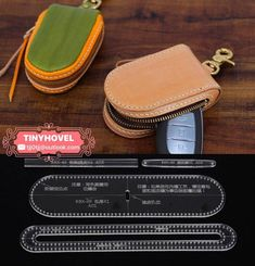Leather Keychain   Key Bag Acrylic Template - Leathercraft Pattern BBX-49  (A009) 2a46ae41655