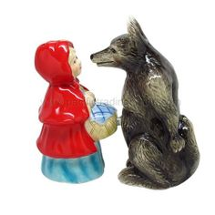 Lady And Wolf Attractives Salt Pepper Shaker Made of Ceramic by Pacific Trading Company. $12.95. Made of Ceramic, Glossy Finished. Magnetic insert to keep shakers together. H: 4.25 (inches). High Quality, Excellent Details. Functional, Fun and Cute Styling. Let's put the fun back in functionality with this cute magnetic salt and pepper shakers set. Made of ceramic with glossy finished. Features superior quality, cool design salt and pepper shakers set is held togethe...