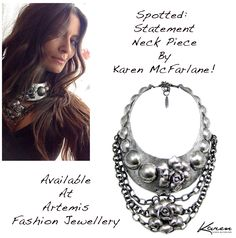 Spotted: Statement Neck Piece By Karen McFarlane! Available at Artemis Fashion Jewellery