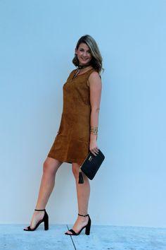 Old Navy, Suede Dress, Vince Camuto, Southern Sequins, Gigi New York // Shotguns & Seashells