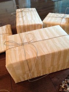 DIY wrapping paper! All you need is a roll of brown paper and a cool stamp - Michael's