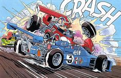 Michel Vaillant Slot Car Racing, Race Cars, Bilal, Morris, Modern Art Paintings, Comic Styles, Star Art, Brainstorm, Cars And Motorcycles
