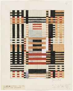 The first couple of modern design  Weaving by Anni Albers.   She worked in textiles, he in paint and glass, but Anni and Josef Albers shared a Bauhaus sensibility.