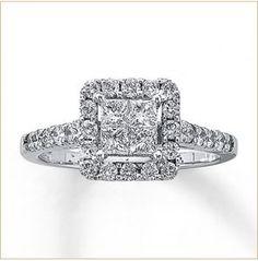 white gold princess cut diamond ring