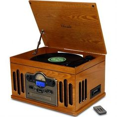 Toca Discos Classic Kansas 32386 com Rádio, USB, Fita Cassete, CD e MP3 Player - Megazim