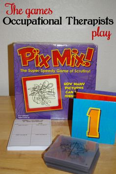 Pix Mix - Adapting every day games and toys for therapy use. See ideas at The Playful Otter (OTR).