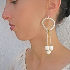 WANT IT? FIND IT! HOT on ENAENA shop!!! https://www.etsy.com/listing/548340809/sand-lava-hoop-dangle-earrings-long-hoop?ref=shop_home_active_1