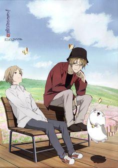 Natsume Yuujinchou ~~ Natsume, Natori, and Nyanko-sensei Manga Boy, Manga Anime, Anime Art, Friends Season 3, Vocaloid, Saiunkoku Monogatari, Otaku, Natsume Takashi, Hotarubi No Mori