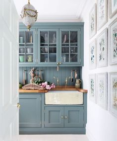 4 Intelligent Clever Hacks: Kitchen Remodel Tips Home Ideas galley kitchen remodel open.Kitchen Remodel Ideas Martha Stewart u shaped kitchen remodel range hoods.Small Kitchen Remodel Eat In. Kitchen Colors, Green Kitchen Cabinets, Home, New Kitchen Cabinets, Kitchen Cabinet Colors, Sophisticated Bathroom, Farrow And Ball Kitchen, Blue Kitchen Cabinets, Butler Sink