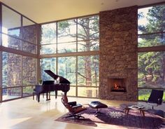 Rocky Mountains home by Alexander Gorlin Architects- I want this view for my living room!