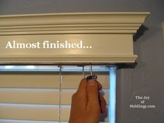 How to Make Box Valances | How to Build a Small Valance Box for $14.54 | The Joy of Moldings