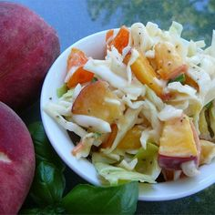 "Thornehedge Peach Slaw I ""What a knock out dish. Something totally different that was perfect at the last BBQ I attended."""