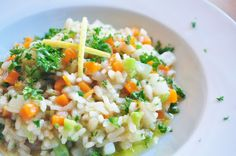 light and healthy risotto