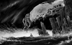 cthulhu by fiend-upon-my-back.deviantart.com on @deviantART