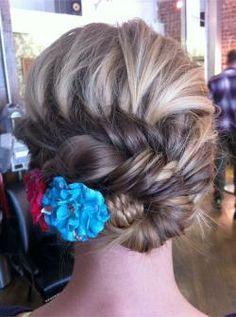 An Ornate Fish Braid topped with some flowers!