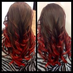 redken black cherry ombre | Cherry Brown Ombre Gorgeous chocolate brown to