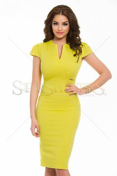 Rochie PrettyGirl Costly Yellow - MuJeR.ro http://www.mujer.ro/rochie-prettygirl-costly-yellow