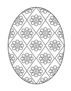 Free Easter Printables | Printable Easter Egg - Coloring Page 5