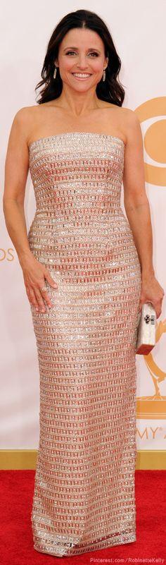 Julia Louis-Dreyfus | Monique Lhuillier, Emmys 2014♥✤ | KeepSmiling | BeStayBeautiful