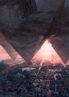 """Polvo y nubes  """"nadie"""" sabe que hay encima, pero ahí arriba anidan las grandes aves"""""""" es una pista de aterrizaje pyramid, Te Hu"""