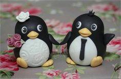 Penguin fondant