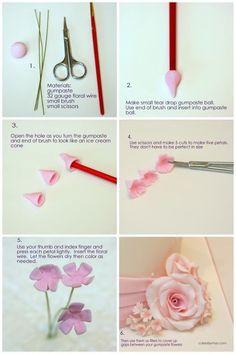Filler Flowers Tutorial gum paste