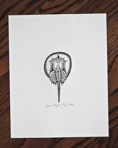 Horseshoe Crab Letterpress Print