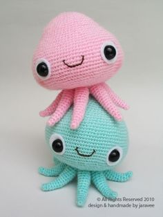 Mr. and Mrs. Jelly Fish PDF Crochet Pattern by jaravee on Etsy
