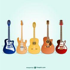 Pack de guitarras Vector Gratis
