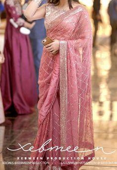 Fancy Sarees Party Wear, Saree Designs Party Wear, Party Wear Indian Dresses, Indian Fashion Dresses, Indian Wedding Outfits, Stylish Sarees, Stylish Dresses, Saris, Sarees For Girls