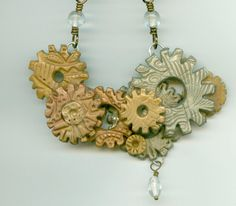 SALE  Reversible Steampunk Polymer Gears have a Flip by jodinobles, $25.00