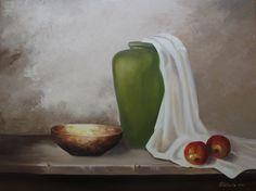 Martwa natura z jabłkami. W. Podlecka