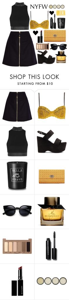 """#159"" by opipolla ❤ liked on Polyvore featuring Acne Studios, Topshop, Yves Saint Laurent, Bella Freud, Burberry, Urban Decay, Bobbi Brown Cosmetics, Witchery, NYFW and nyfwstyle"