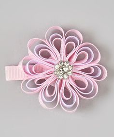 Love this Pink Layered Rhinestone Flower Clip by Olivia Rae on #zulily! #zulilyfinds