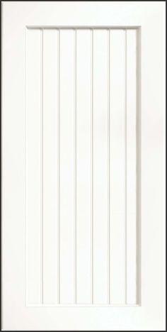 Square Recessed Panel, Thermofoil, White contemporary kitchen cabinets
