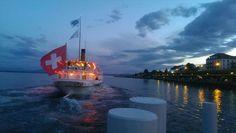 Good Night, Switzerland, Opera House, Scenery, Travel, Geneva, Swiss Guard, Ships, Nighty Night